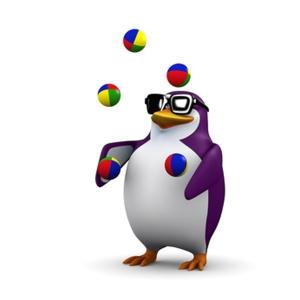 3d Penguin juggles